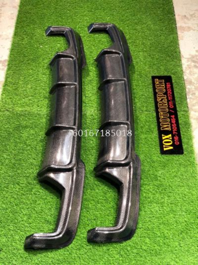 2010 2011 20122013 2014 2015 2016 2017 2018 bmw f10 rear diffuser vorsteiner style for msport replace replace upgrade Performance look real carbon fiber Material new set