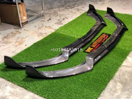 2014 2015 2016 2017 2018 2019 mercedes benz w205 front lip diffuser brabus style for amg front bumper add on upgrade performance look real carbon fiber material new set