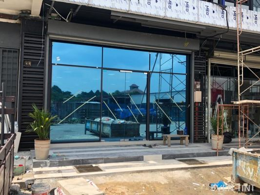 Install solar film at factory