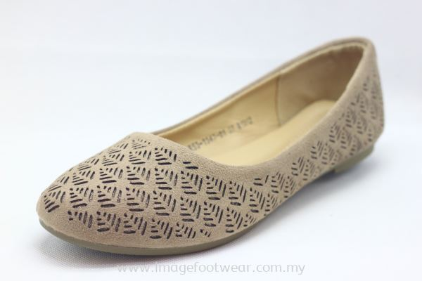 Lady Shoes with Fat Sole -TF-53-1347 KHAKI Colour