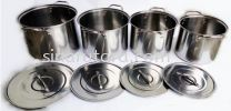 HF2430 Stainless Steel Stock Pots 4PCS Set Pot Cookware VV