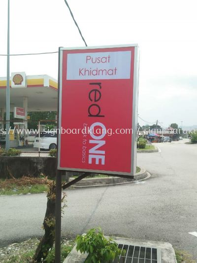 red one network sdn bhd Normal light box signboard at Kuala Lumpur