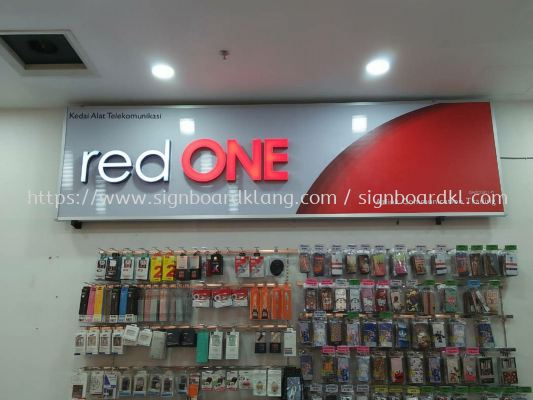 red one network sdn bhd 3D LED channel box up lettering signage signboard at giant shopping.mall in klang kampung jawa