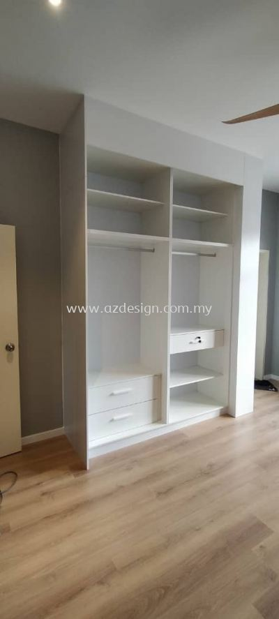 Wardrobe & Bebhead with side table Design