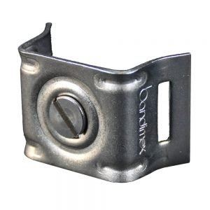 Dimple�CBracket with flared legs for use with Alu-Angles �C SS-CrNi