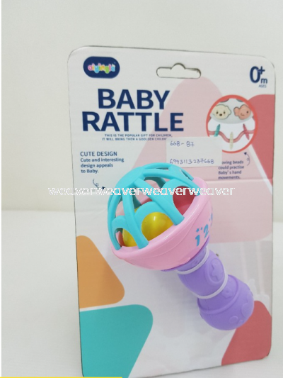 LOCAL SELLER READY STOCK CUTE DESIGN BABY RATTLE 668 / 668-63 / 668-64 SHAKER TOY MAINAN