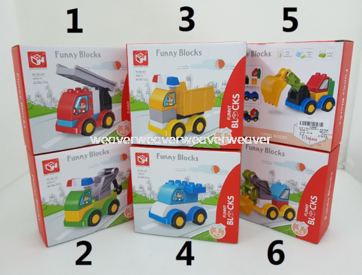 LOCAL SELLER READY STOCK FUNNY BLOCKS ASST TOY MAINAN
