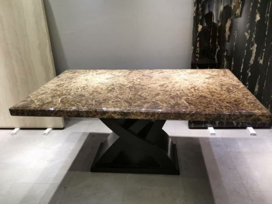 Laminated Table | Wood Base | 6 seaters | Table Only (Last Unit)
