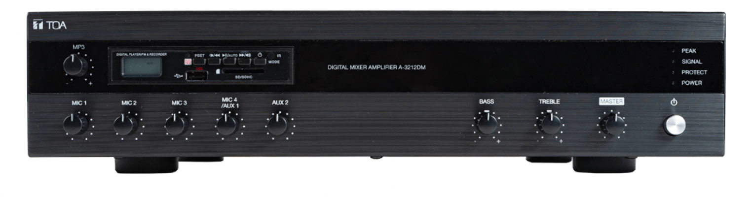 A-3224DM. TOA Digital Mixer Amplifier with MP3. AIASIA Connect