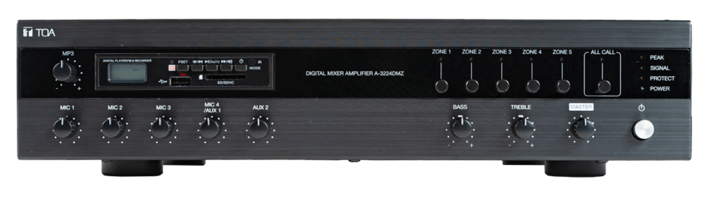 A-3224DMZ. TOA Digital Mixer Amplifier with MP3 and Zones. #AIASIA Connect