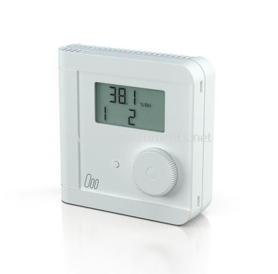 Electronic Room Hygro-Thermostat 1 switching output each for temperature and humidity eStat10 DUO
