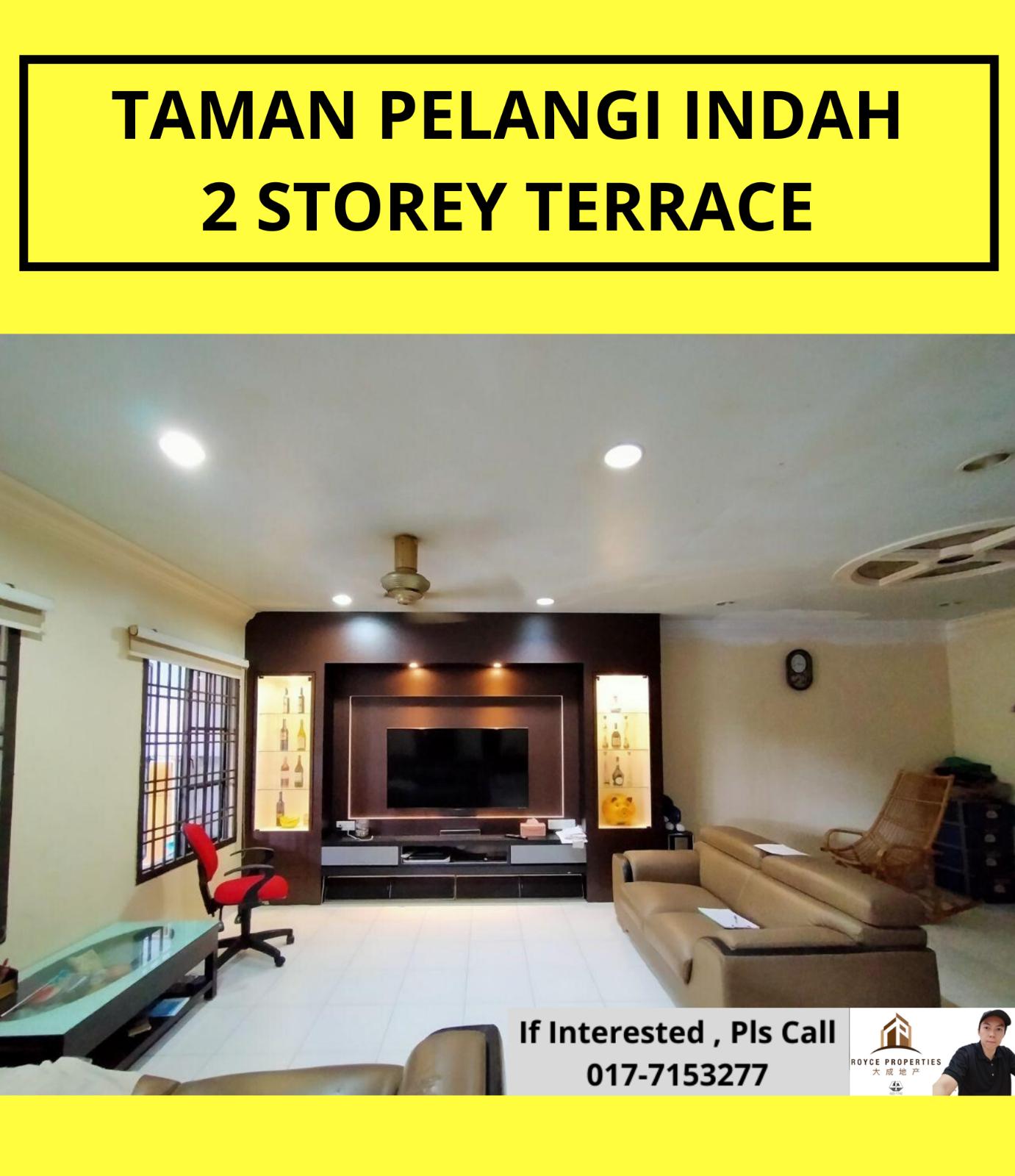 Taman Pelangi Indah Jalan Jelita 2 Storey Terrace