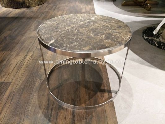 Marble Coffee Table | Dark Emperador | Last Unit (Cash & Carry) RM1,299