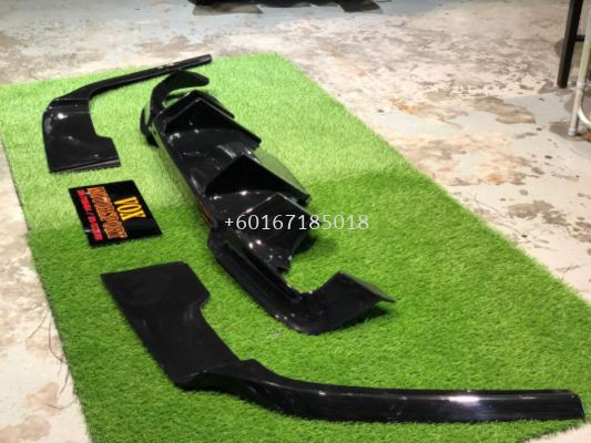 2010 2011 2012 2013 2014 2015 2016 2017 2018 bmw f10 rear diffuser prior design for msport replace upgrade performance look black material new set
