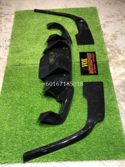 2010 2011 2012 2013 2014 2015 2016 2017 2018 bmw f10 bodykit rear diffuser prior design for msport replace upgrade performance look black material new set