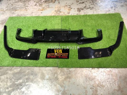 2010 2011 2012 2013 2014 2015 2016 2017 2018 bmw f10 rear diffuser bodykit prior style for msport replace upgrade performance look black material new set