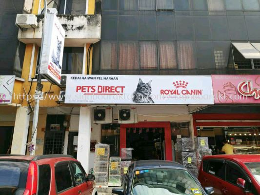 Pets Direct royal Canin Normal Light box signboard at kampung subang