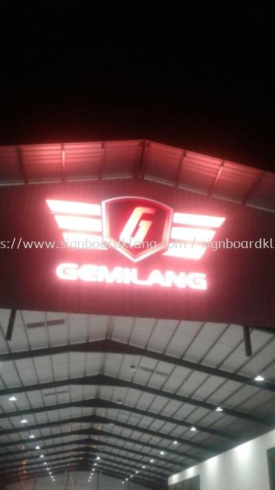 Gemilang Giant 3D Led conceal box up lettering and logo at kajang kuala Lumpur