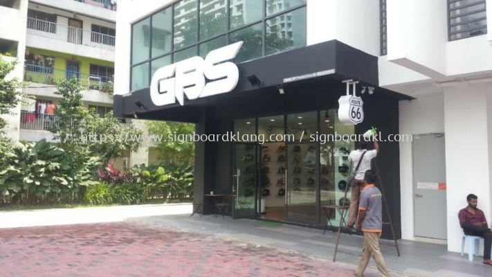 GBS 3D Led channel box up lettering frontlit signage at banggi kuala Lumpur