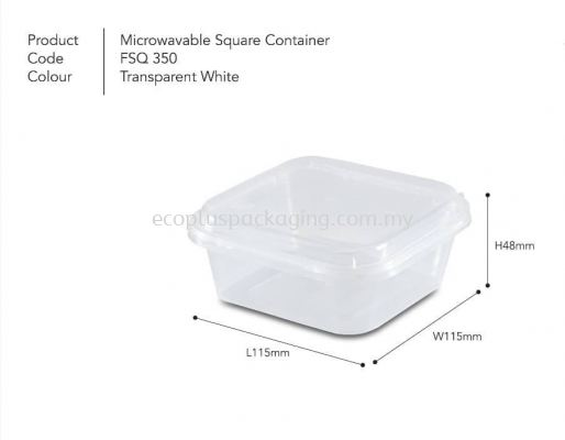 SQ350 Square Container with Lid