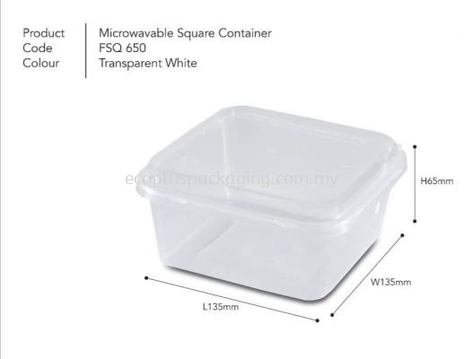 SQ650 Square Container with Lid