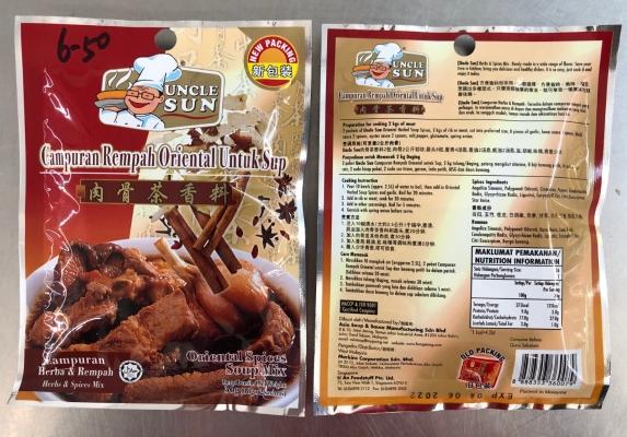Uncle Sun oriental spices soup mix