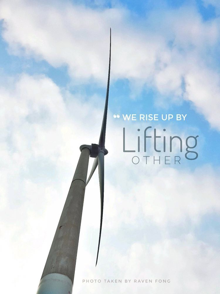We Rise by Lifting Other !