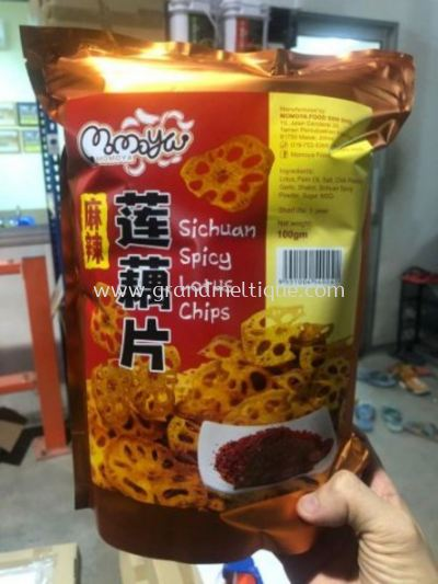 MOMOYA SICHUAN SPICY LOTUS CHIPS