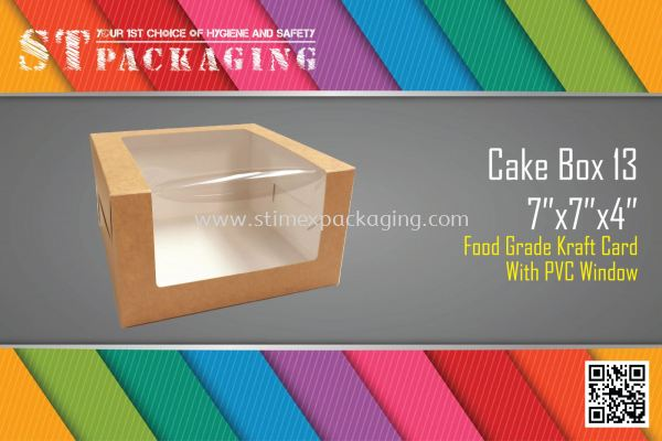 "Cake Box 13 7""x7""x4"" @ 15pcs x RM3.70/pc"