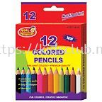 """12 COLORED PENCILS WITH HANGER TRAY (3.5"""") IN PRINTED BOX"""