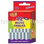 12CT WHITE CHALK IN PRINTED BOX