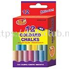 12CT COLORED CHALK IN PRINTED BOX
