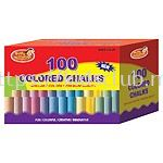 100CT COLORED CHALK IN PRINTED BOX