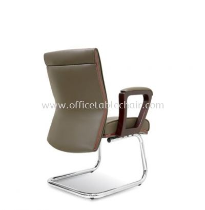 ACTOR DIRECTOR VISITOR LEATHER CHAIR WITH WOODEN TRIMMING LINE