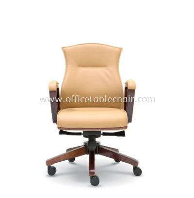 AMITY DIRECTOR LOW BACK CHAIR WITH WOODEN TRIMMING LINE ASE 2363