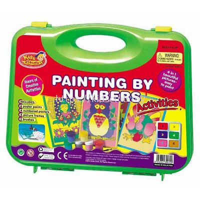 PAINTING BY NUMBER ACTIVITIES SMALL CARRY CASE