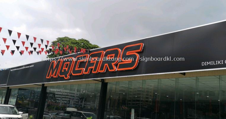 Mqcars 3D led channel box up lettering signage signboard at ampang Kuala Lumpur