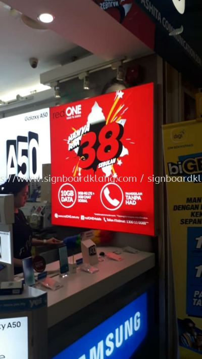 Red one network indoor LED fabric light box signage signboard at shah alam