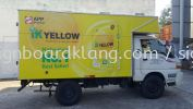 Ik Yellow Truck Lorry warping inkjet sticker at Kuala Lumpur TRUCK LORRY STICKER
