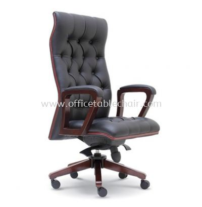 DUTY DIRECTOR HIGH BACK CHAIR WITH WOODEN TRIMMING LINE ASE 2321
