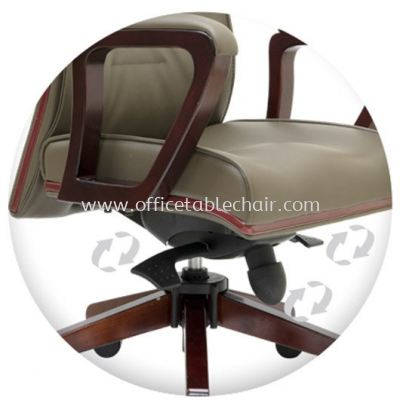 ACTOR SPECIFICATION - THE UNIQUE IMPORTED KNEE-TILT SYNCHRONIZED ADJUSTABLE MECHANISM WITH LOCKING SYSTEM ASSURES MAXIMUM LUMBER SUPPORT SPINE