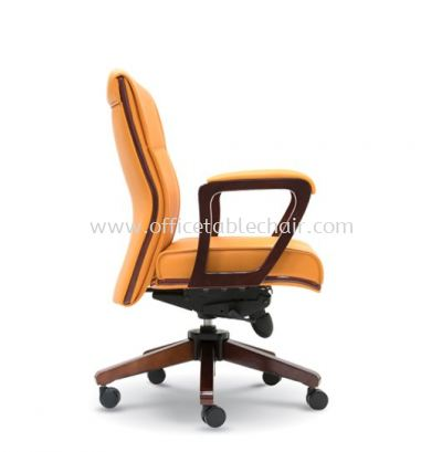 ELITE DIRECTOR LOW BACK CHAIR WITH WOODEN TRIMMING LINE ASE 2373