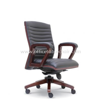 GENTLY DIRECTOR LOW BACK CHAIR WITH RUBBER-WOOD WOODEN BASE ASE 2333