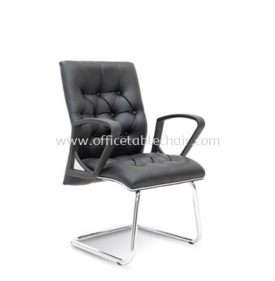 ULTIMATE DIRECTOR VISITOR CHAIR WITH CHROME TRIMMING LINE ASE 2534
