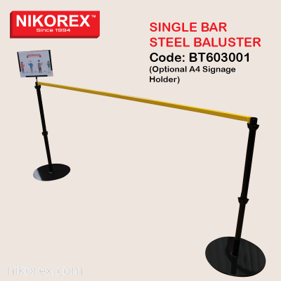 BT603001 - Single Bar Steel Baluster Code