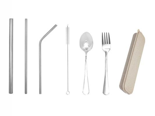 CS3002 - Cutlery and Straw Set With Box