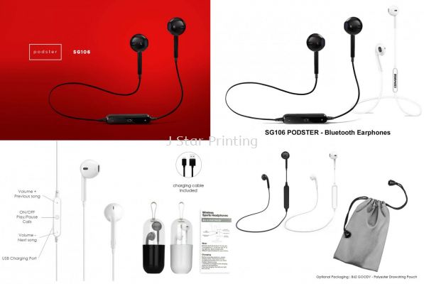 Audio Bluetooth Earphones SG106