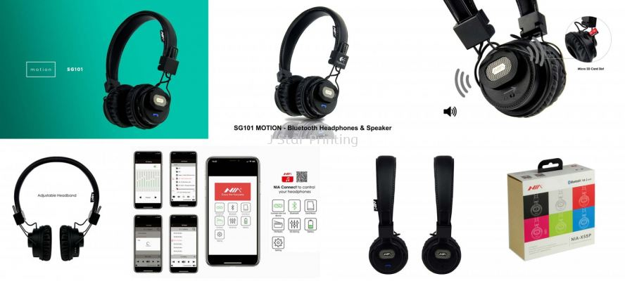 Audio Bluetooth Headphones & Speaker SG101