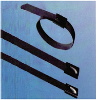 Fully Coated Stainless Steel Cable Ties Ball Lock Type