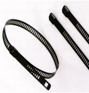 Epoxy Fully Coated Ladder Stainless Steel Cable Ties Single Lock Type - A Series
